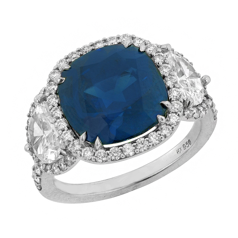 View A SAPPHIRE AND DIAMOND RING